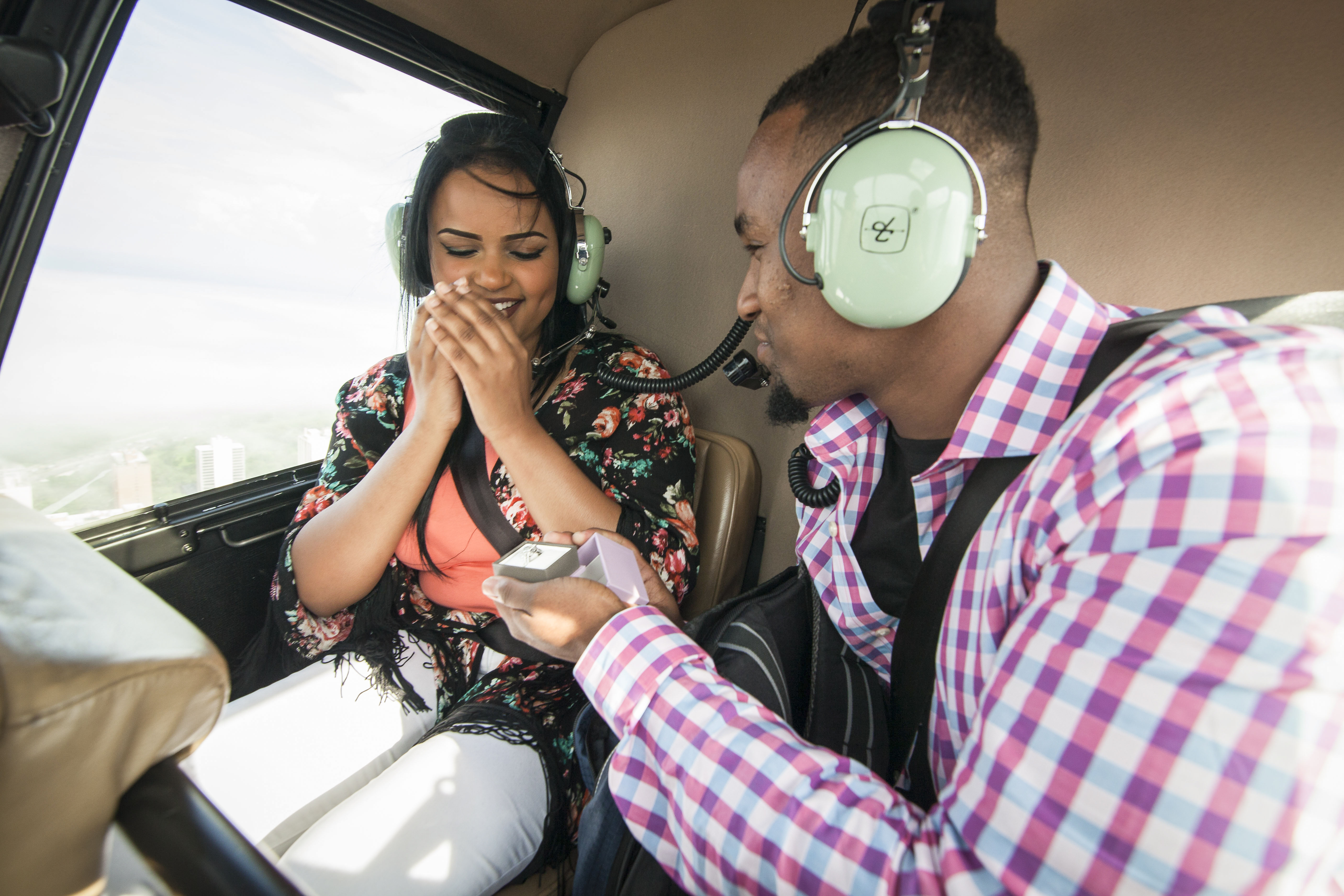 Miami helicopter marriage proposal