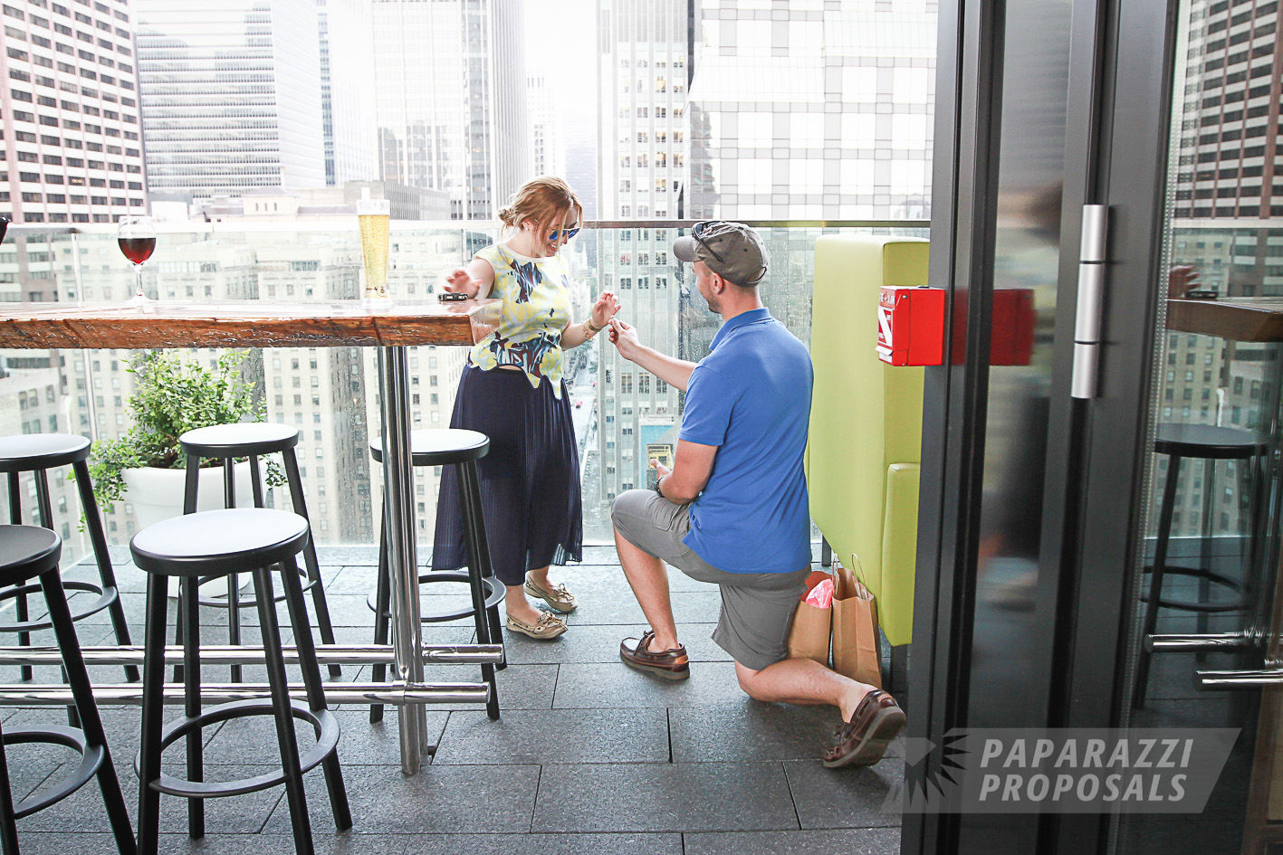 Brian And Jessica S New York City Roof Top Proposal