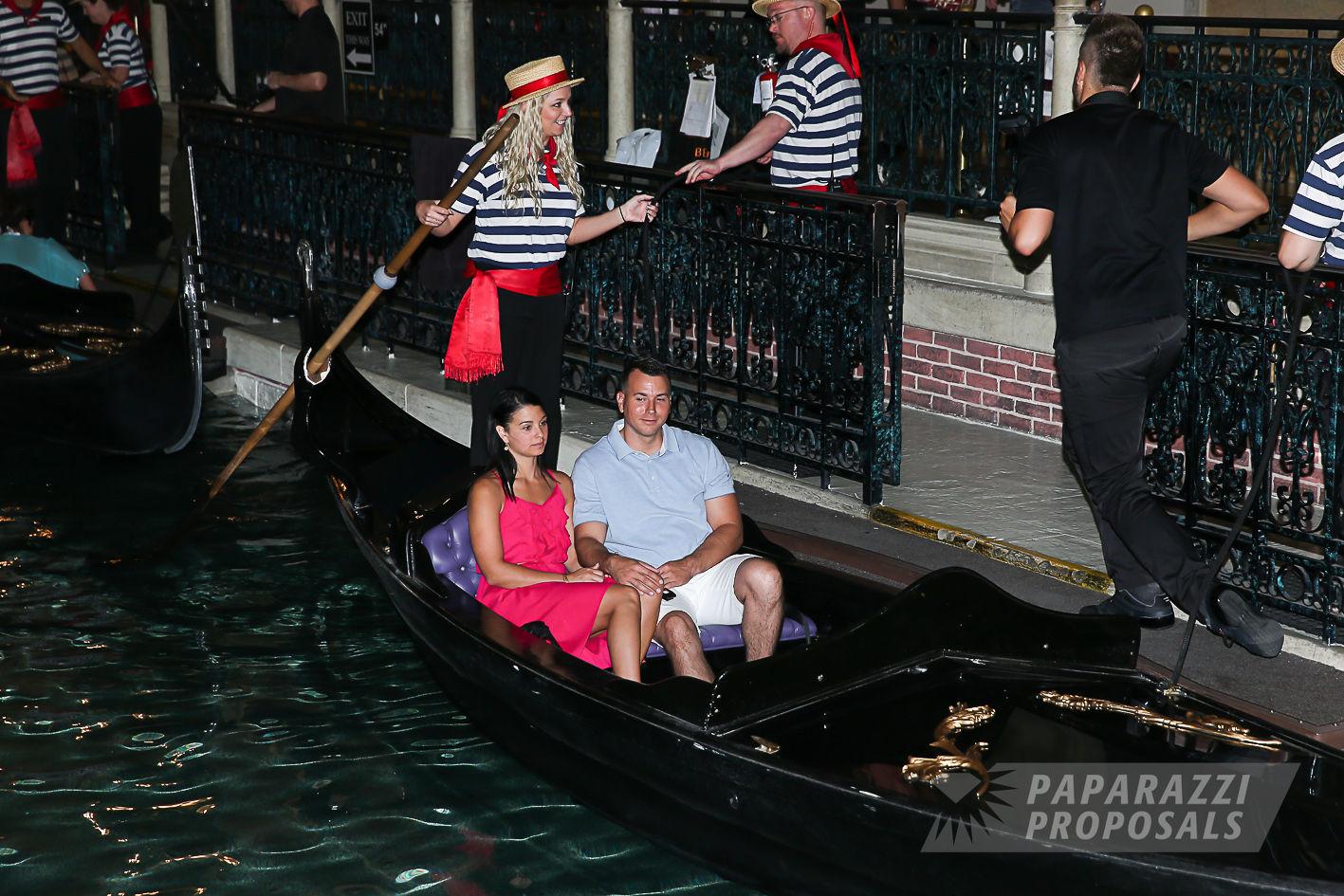 Chase and Leah's Las Vegas Venetian Hotel surprise gondola