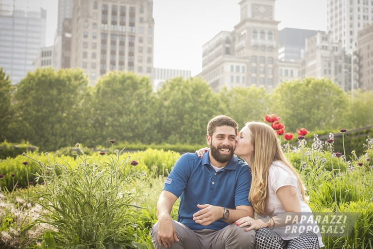 Chicago Surprise Engagement Photography Daniels Millenium Park