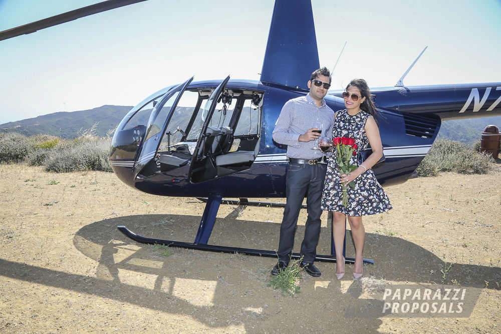 Los Angeles Proposal Photography Ajays Helicopter Proposal