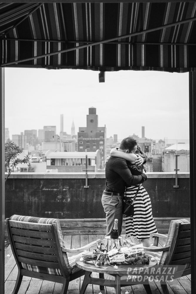 Nyc Marriage Proposal Michael And Caitlin S Rooftop
