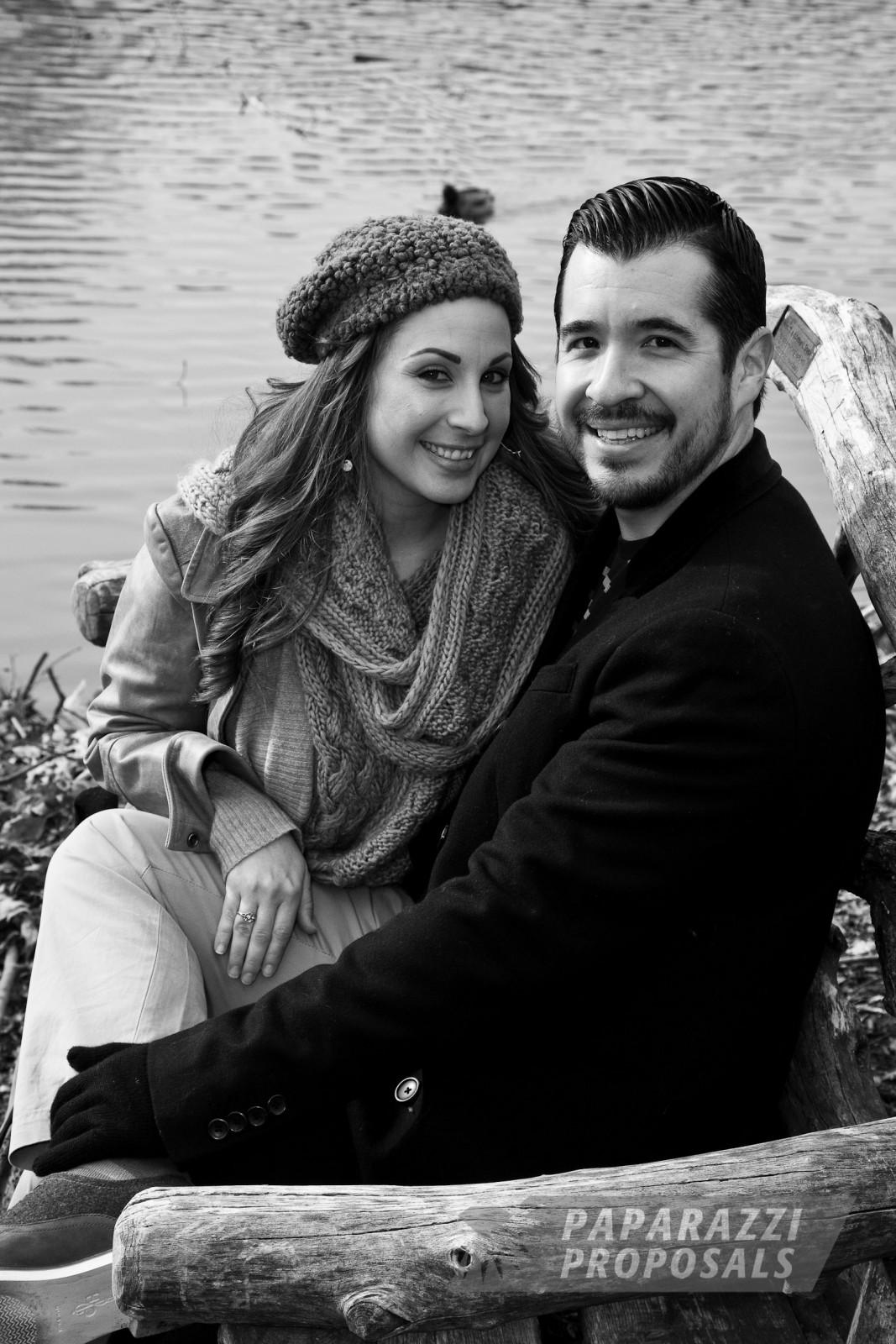 Stephen And Catherine S Bow Bridge Paparazzi Proposal New York Paparazzi Proposals