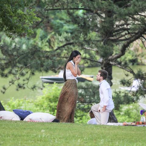 Paparazzi Proposals Surprise Engagement Photography