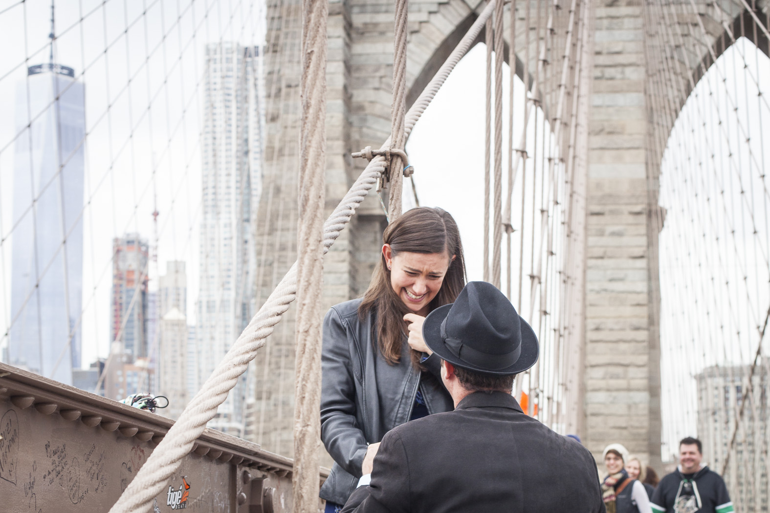 Surprise Proposal Photography Brooklyn Bridge