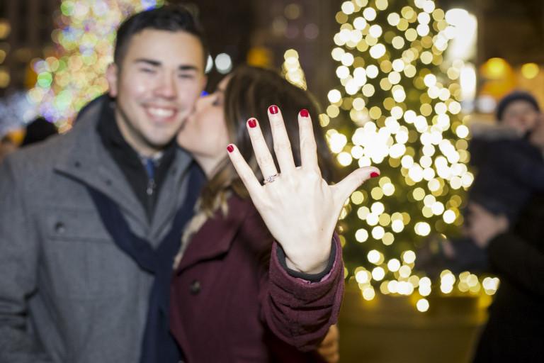 Nyc Proposal Photography Rockefeller Center Paparazzi