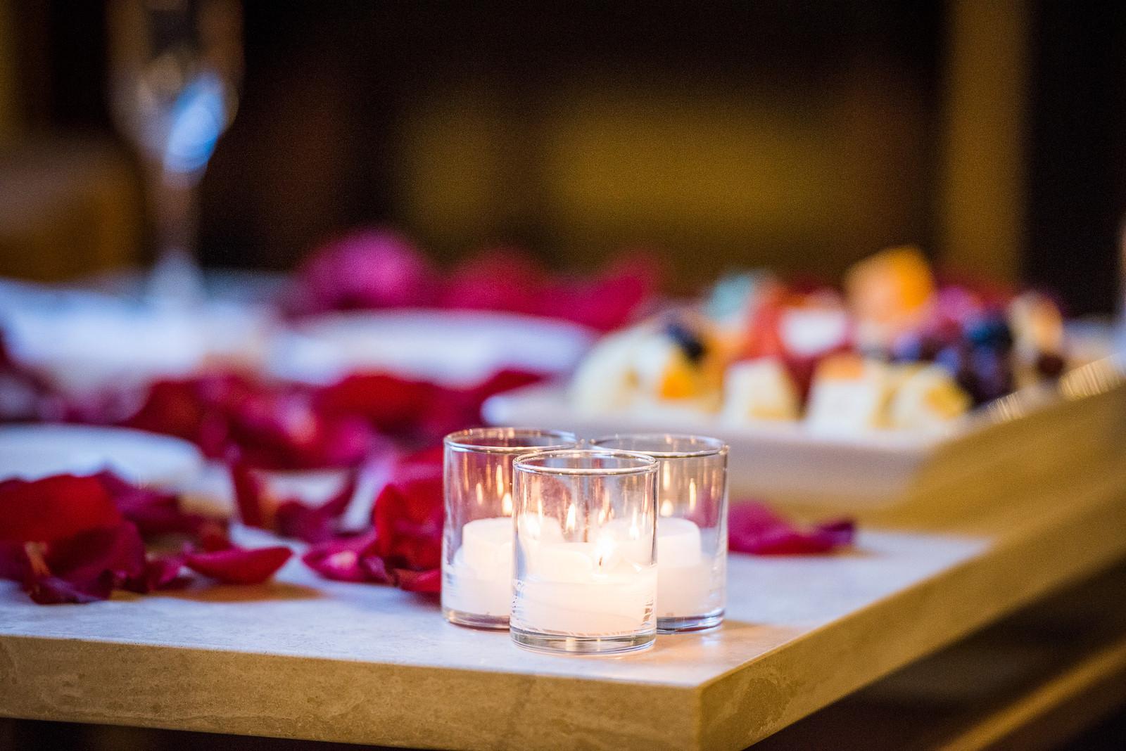 Candles and Rose Petals Proposal