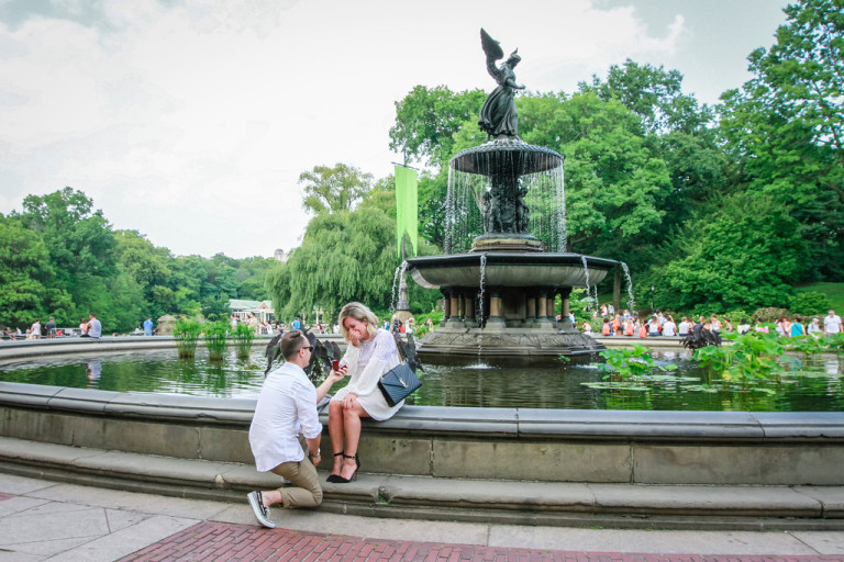 Best Places To Propose In Central Park Paparazzi Proposals