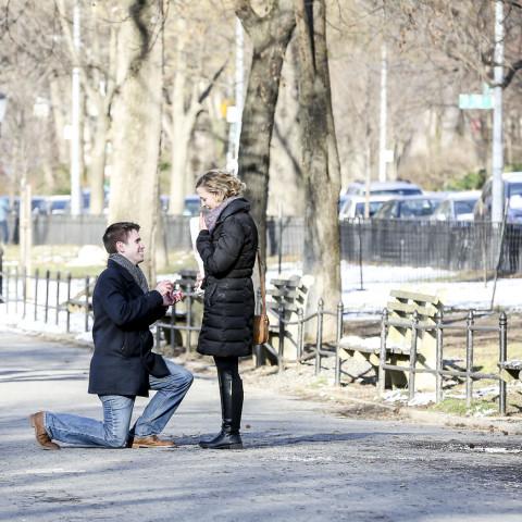 New York Proposal Photography Riverside Park Proposal Surprise