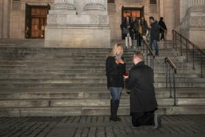 Surprise engagement photography reaction