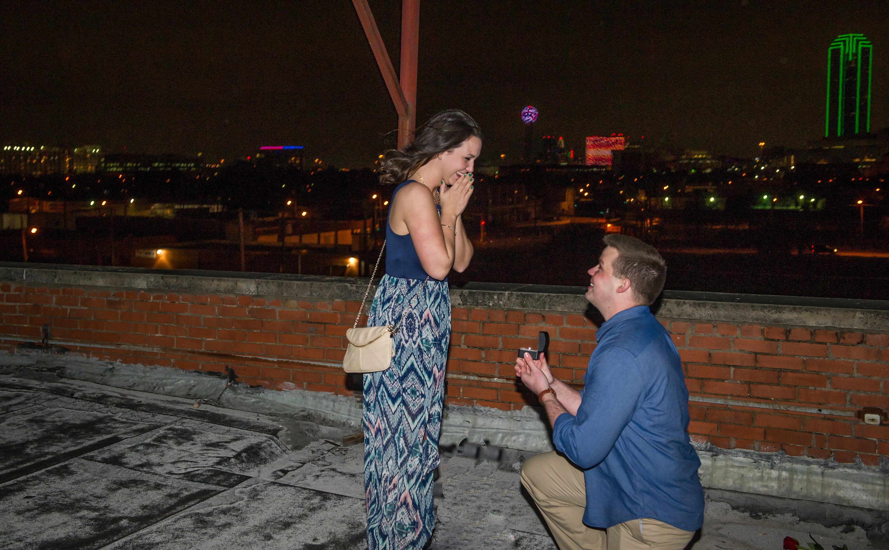 How to Propose in Dallas: Rooftop Proposal
