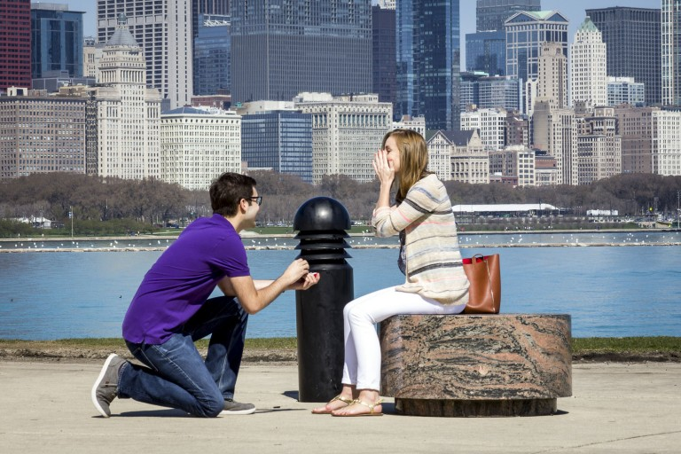 Chicago Proposal Photography Paparazzi Proposals
