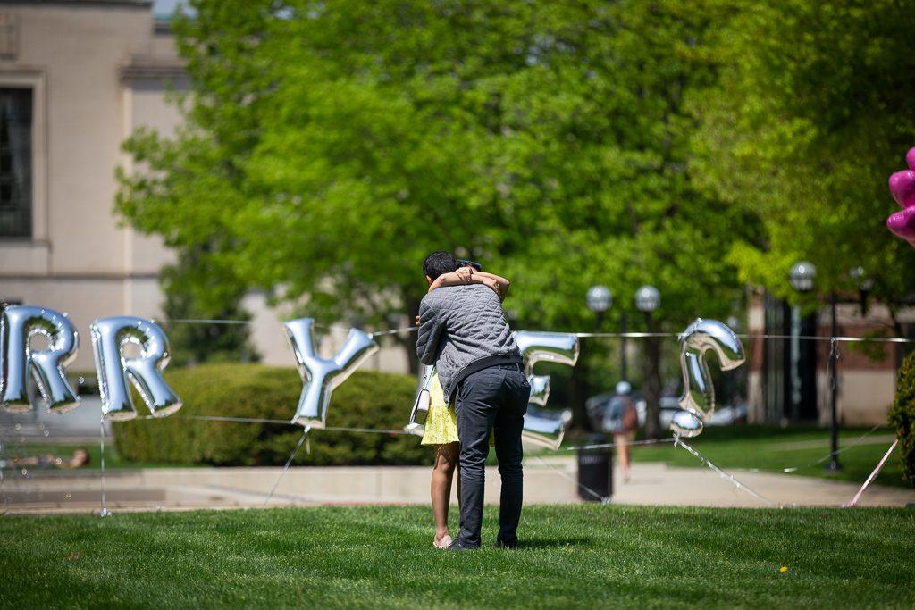 Detroit Engagement Proposal Photography