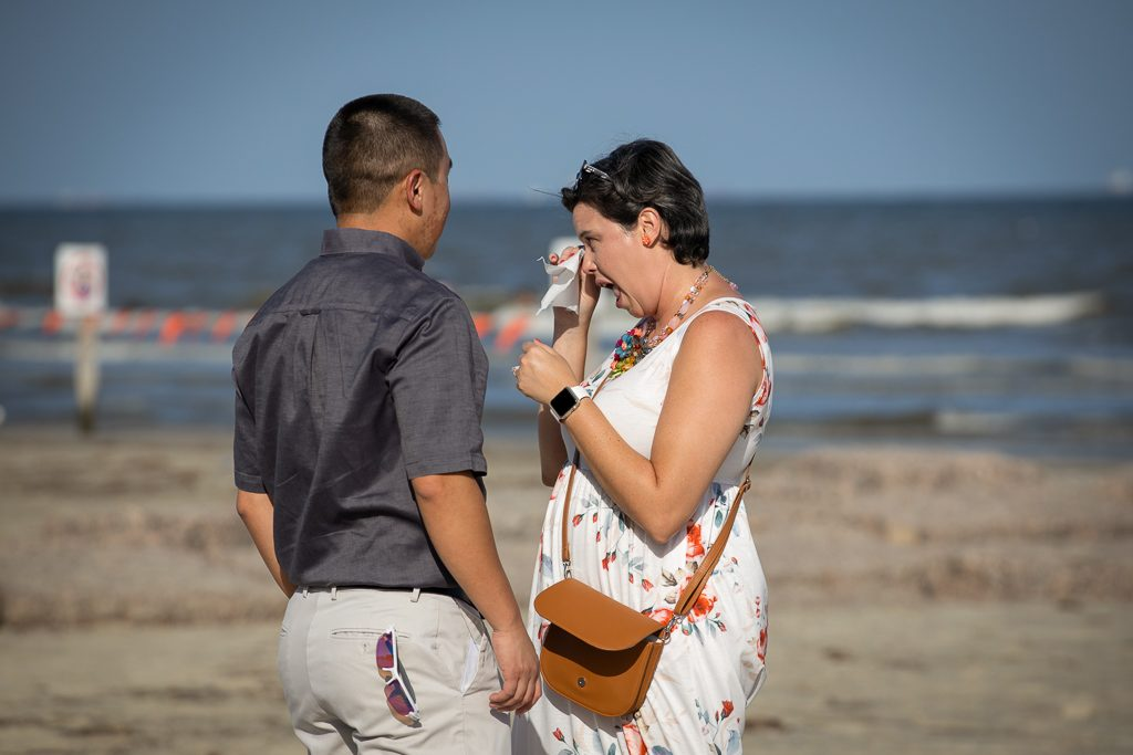 Galveston Engagement Proposal Photographer